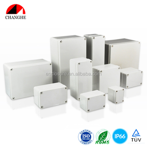 IP65 Plastic watertight electrical enclosure junction box outdoor distribution box 252x152x100mm