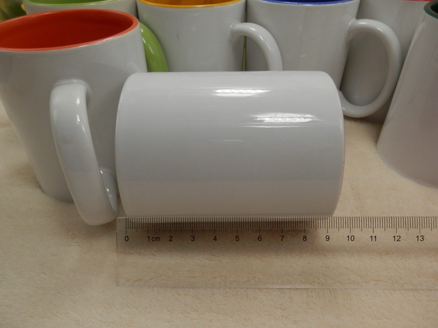 Wholesale top grade 11oz different inner colour blank sublimation mugs ,inner color cup,custom mug