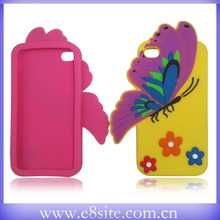 For iPhone 5 5S Cute 3D Butterfly Design Silicone Case
