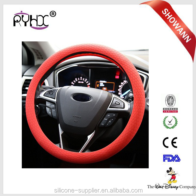 DIY Genuine silicone colorful military glitter best anime sport steering wheel cover