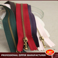 high quality stainless steel metal zipper , zipper supplier