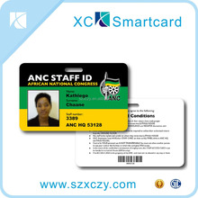 Membership Card With QR Code/ Cr80 Standard Size Printed Barcode / Magnetic Strip Pvc Card