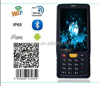 ST908 Mobile RFID reader with 2D reading QR code 4inch/WIFI/BT/GPS/4G/IP65