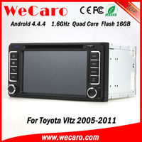 Wecaro 1.6GHZ android 4.4 car multimedia dvd radio Car gps navi for toyota vitz 2006 GPS navigator TV Radio tuner CD Player