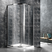 A-1400-C Portable Acrylic Curved Glass Shower Screen