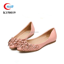 Summer pointed toe fashionable flat women ballerina shoes