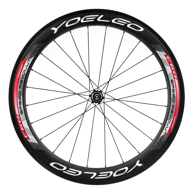 <strong>U</strong> Shape 25mm Wide 60mm carbon clincher wheelset,Sapim Spokes,Ceramic Bearing,Straight Pull
