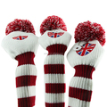 Red 3x Golf Headcovers For Titleis Talormade Callawa Driver Fairway Wood 1 3 5