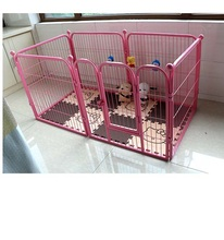 Dog Playpen Steel Pet Kennel Pen Exercise Cage Fence 6 Pannels MHD0009