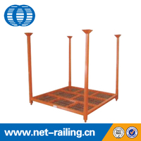 Stacking metal foldable warehouse storage steel pallet tyre rack