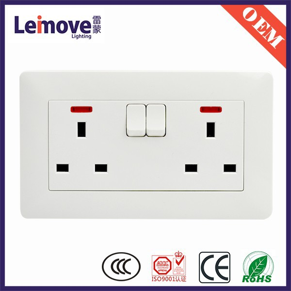 european standard 6 outlet power strip with individual switch