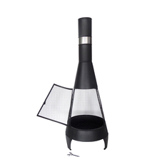 Black cheap steel chimenea heater and barbecue