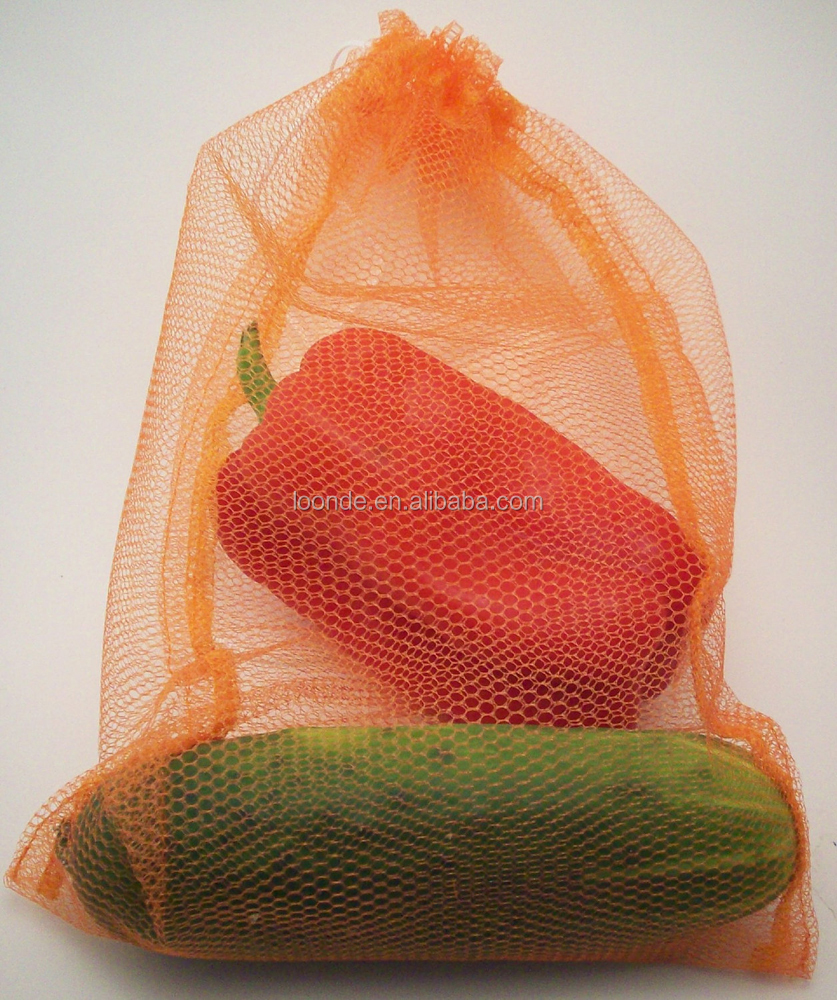 Promotional see through polyester nylon mesh grocery food bag