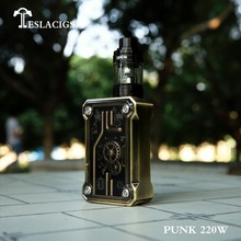 Teslacigs punk 220w mod , Steampunk style vaporizer, Use Zinc alloy+ABS+PC material