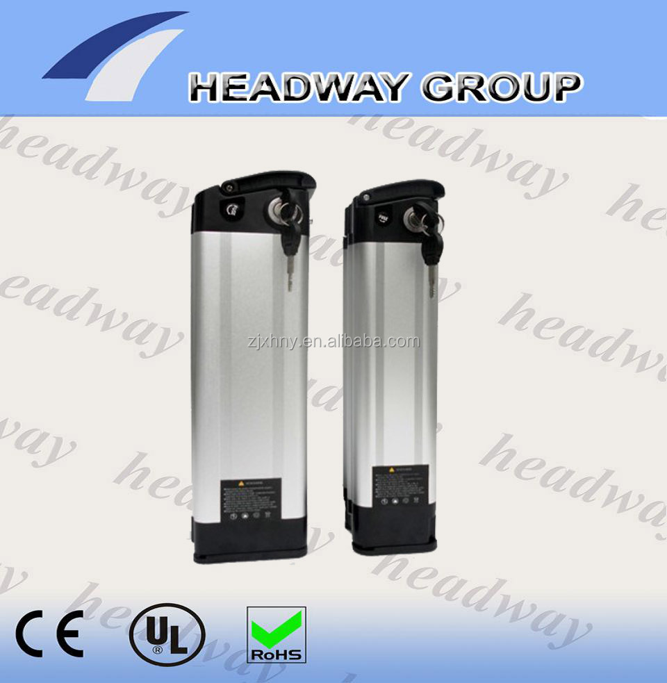 Headway hot sale silver fish electric bike li ion battery pack 36V 10Ah for e-bike