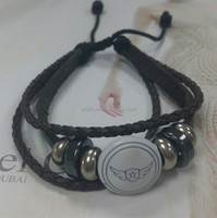 Dongguan city friends gifts manufactory, real leather bracelet