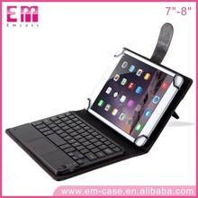 Universal 7inch Tablet Touch Bluetooth Keyboard For iPad mini 4 Detachable Keyboard Leather case