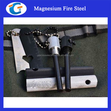Disaster preparedness kit magnesium flint stone fire starter with aluminum case
