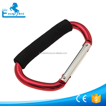 12*140mm Aluminum carabiner hook clip with soft grip