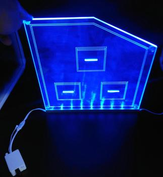 RGB color or single color 12v adapter powered acrylic led light base for acrylic