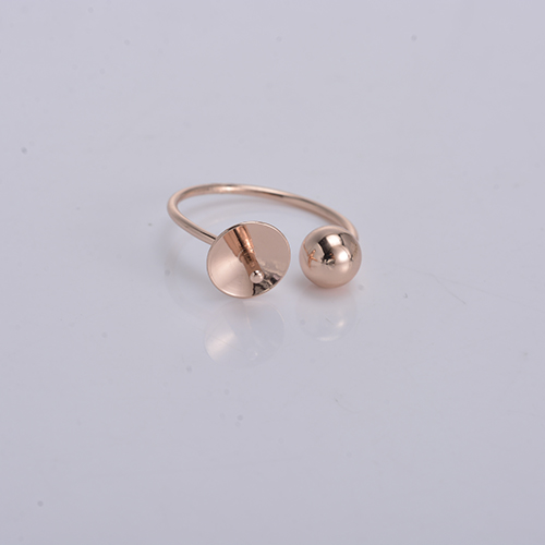 2017 new styles 18k gold plated brass copper alloy imitation jewellery ring with ball and pearl setting