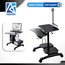 Swivel Monitor VESA Mount Gas Spring CPU/Printer Holder High Impact Plastic Mobile Computer Desk