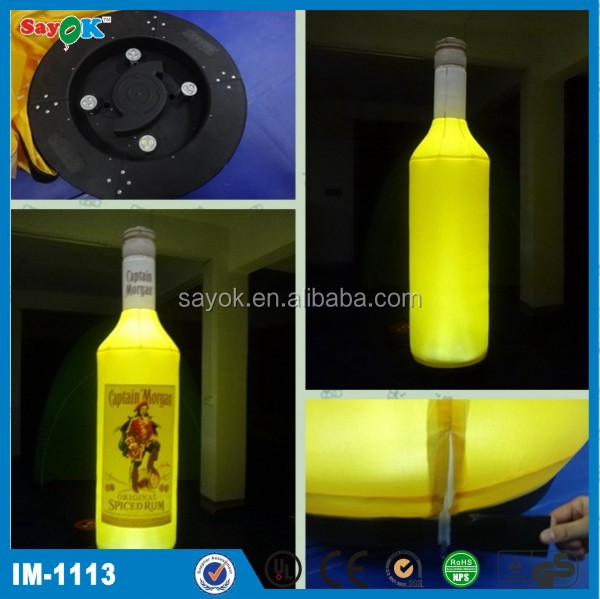 customized giant inflatable beer bottle /can/mug price for sale
