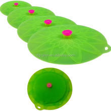 Newest design christmas silicone pot cover lotus flower pot cover