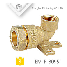 EM-F-B095 Wall mounted quick connector brass reducing elbow pipe fitting