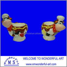 ceramic cow shaped single egg cup holder