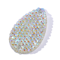 17*25mm white sew on rhinestone whitout holes pear shapen ,flatback cabochon for clothing