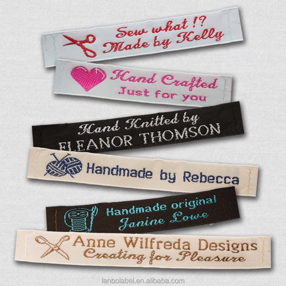 "Personalized 100% Woven Sewing Labels 1/2"" Wide"