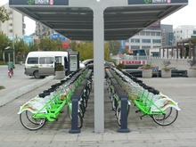 Public Bicycle Rental Shelter Bike Share Dock