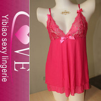 wholesale japanese girls pink women sexy image babydoll lingerie