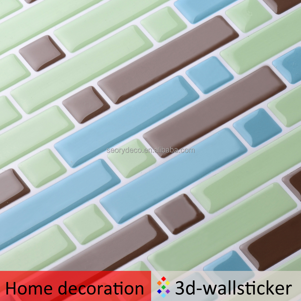 Top quality low cost peel and stick plastic wall mosaic for kitchen backsplash