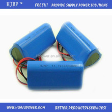 Customized 18650 rechargeable 12 volt lithium ion battery