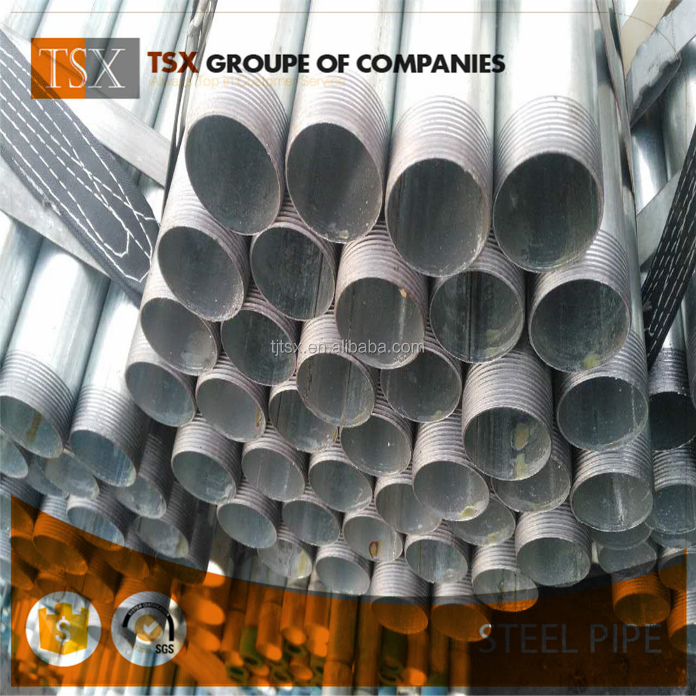 Tianjin manufacturer TSX-173211 ASTM A53 gi pipes 100mm for furniture material