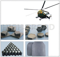Bulletproof plate made by silicon carbide material/Sic bulletproof ceramic/ballistic plate/tile