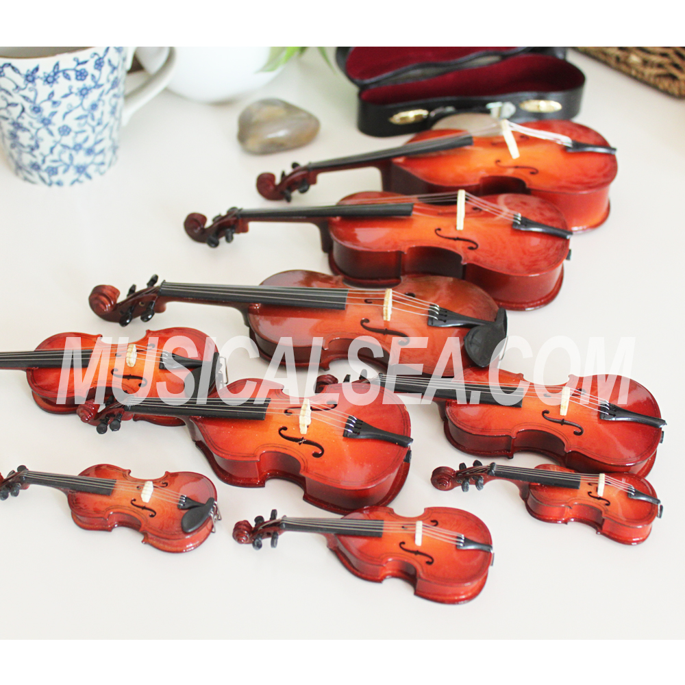 High Quality Miniature violin Item Type and toy violin musical instrument wooden hanging craft for Kids