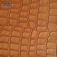 fancy embossed pattern PU synthetic leather for shoes