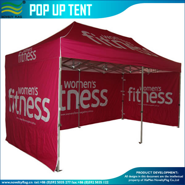 Foldable advertising exhibition canopy tent