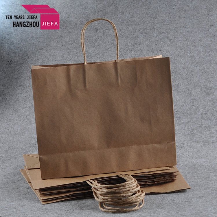Factory Quality 250gsm Kraft Paper Shopping Bag Brown Paper
