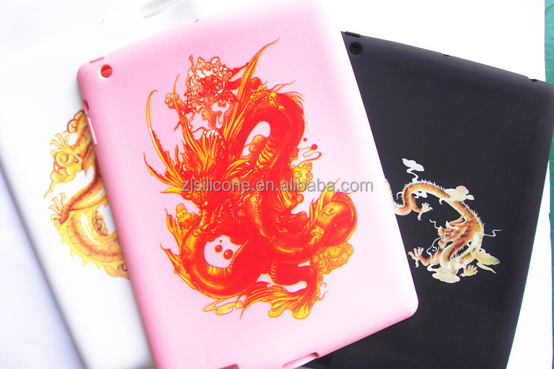 Silicone tablet case cover for IPAD 2 with printed logo