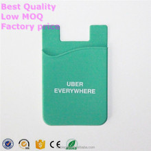 Wholesale eco-friendly mobile pocelet card holder ,3M sticker silicone smart wallet purse