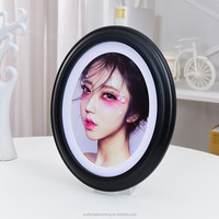 Black oval wood carved photo frames women and men birthday gift photo frame