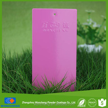Pink smooth high gloss polymer coating of metal for Interior coating