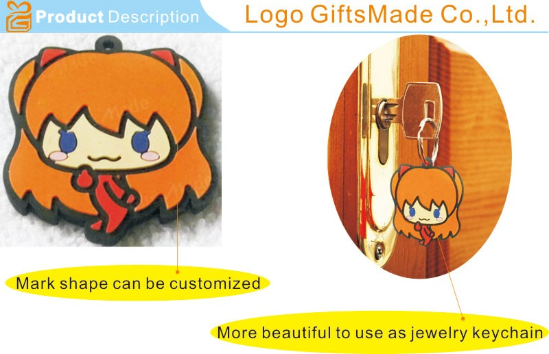 China 3D PVC Keychain with High-Quality