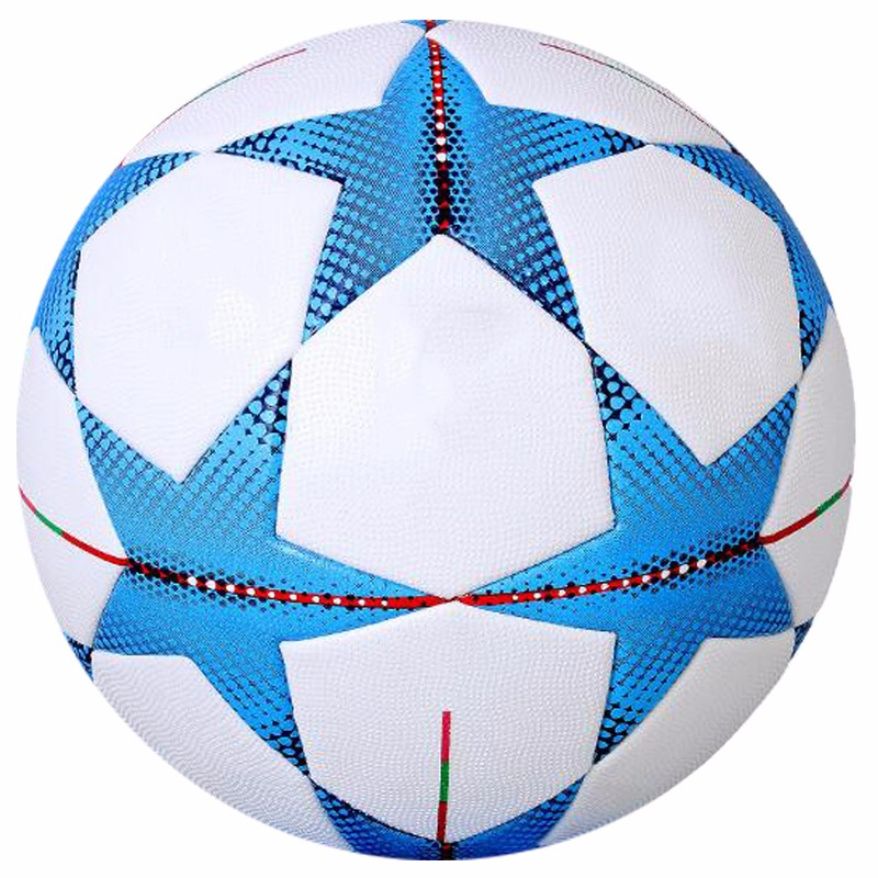 butyl bladder cheap leather sports football soccer ball