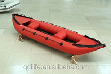 sea rowing PVC low cost kayak inflatable canoe for fish