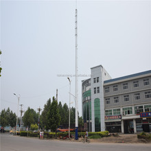 telecom bts self supporting single pole tower
